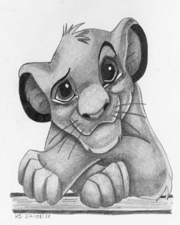 Free Lion King Drawings Clip Art