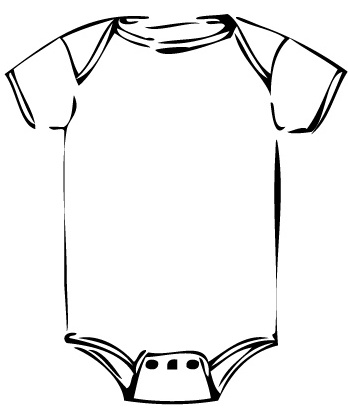 Free Baby Onesie Outline, Download Free Clip Art, Free