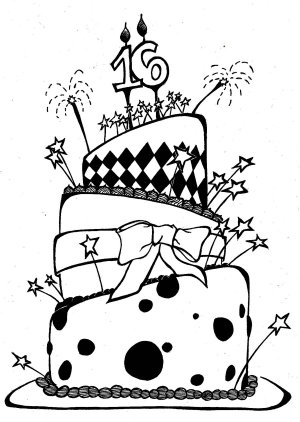 birthday cake drawings drawing coloring pages draw clipart sketch step happy cliparts cool card awesome clip cakes pencil kawaii library