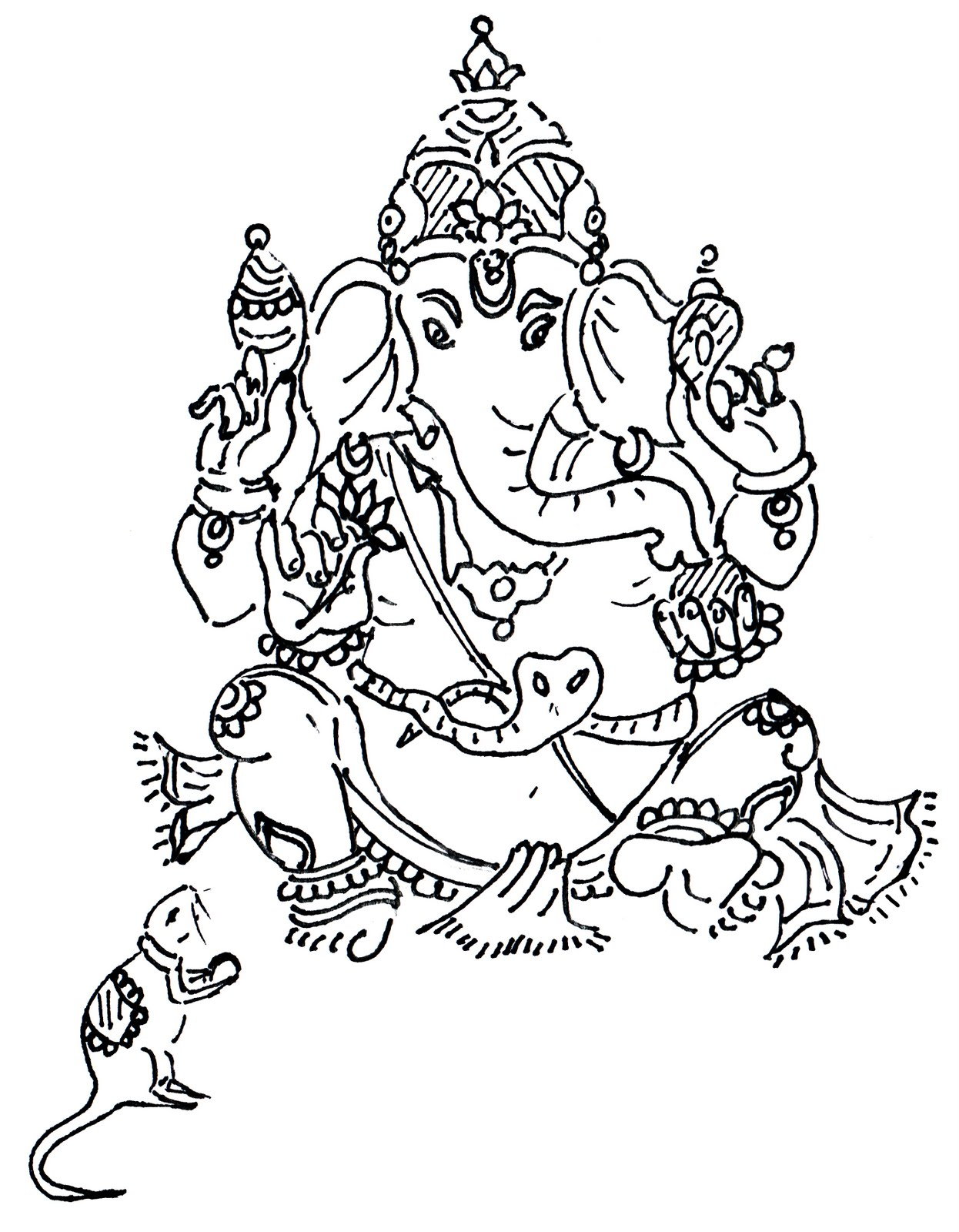 Free Ganesh Drawing, Download Free Clip Art, Free Clip Art