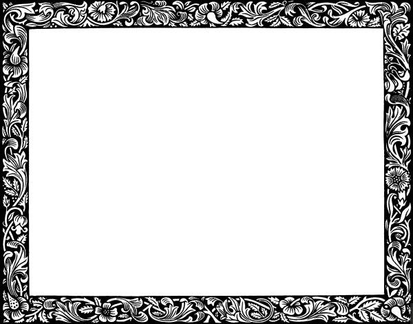 Free Letter Borders Clip Art
