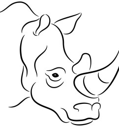 outline of rhino clipart library [ 1200 x 1200 Pixel ]