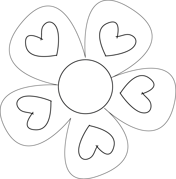 flower template - clipart library