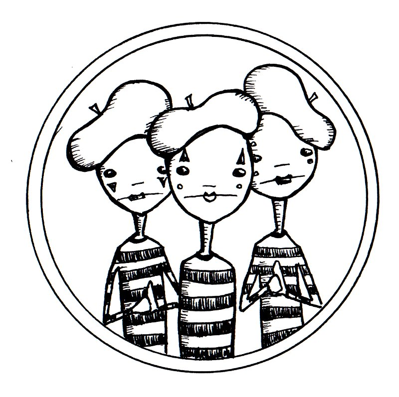 Food with a Face and Mimes!: Digital Stamps