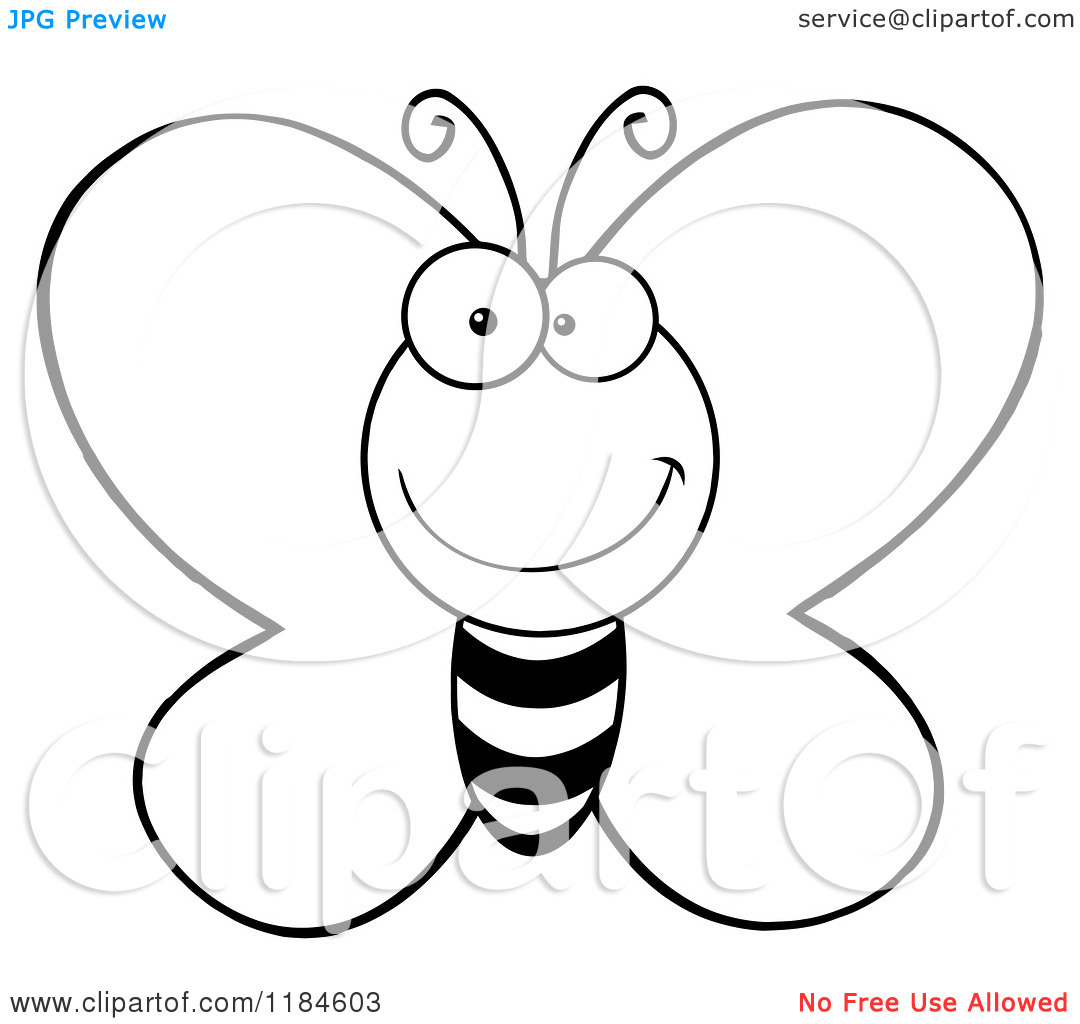 Free Butterflies Black And White Outline Download Free