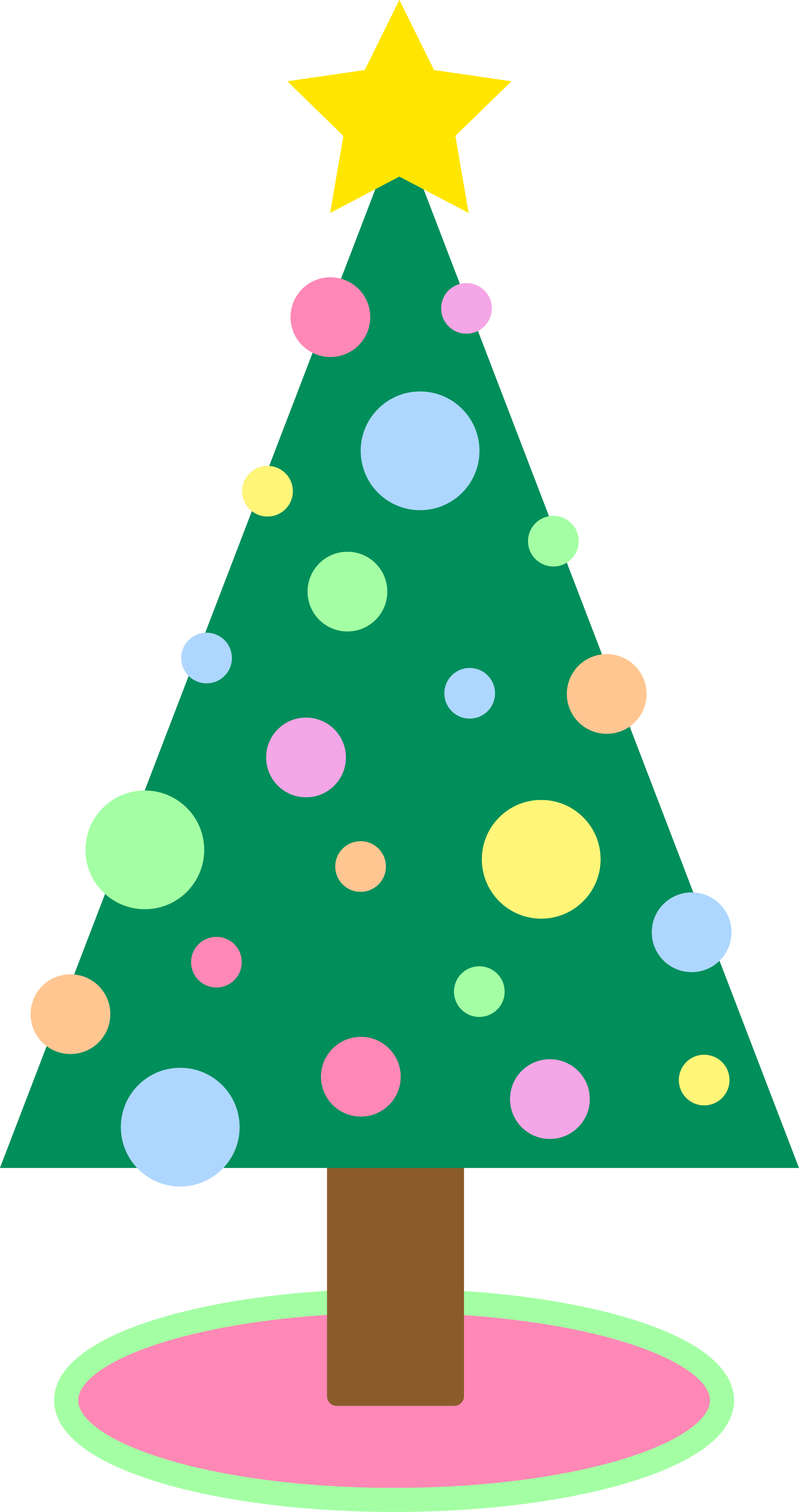 hight resolution of cute simple pastel colored christmas tree free clip art