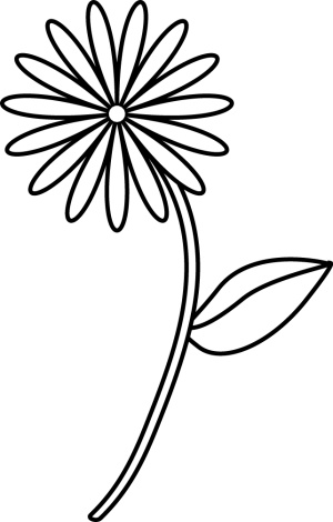flower simple easy drawing drawings clipart flowers clip library