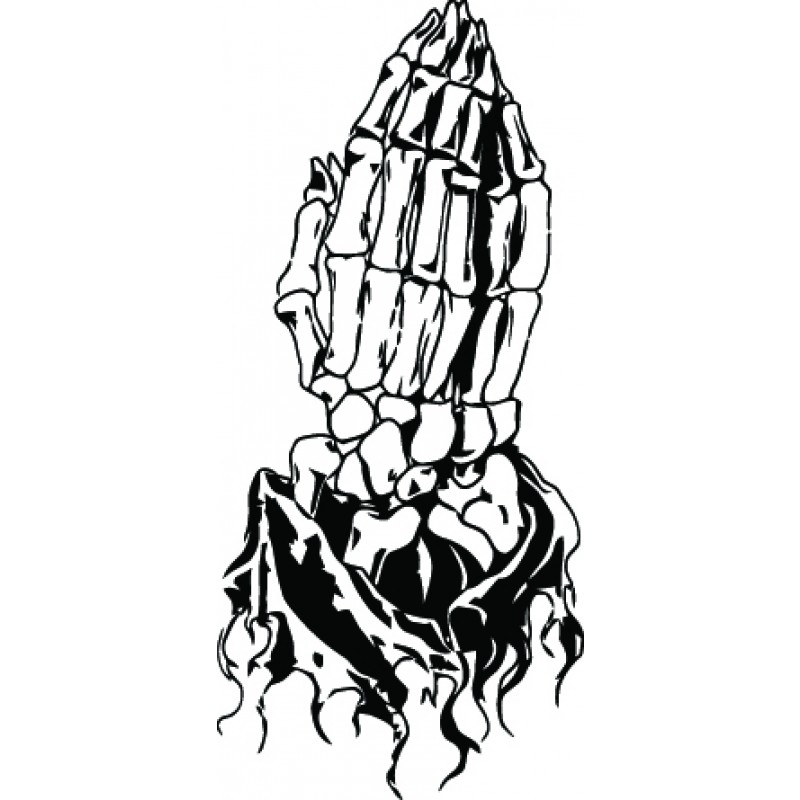 Free Black And White Praying Hands, Download Free Clip Art