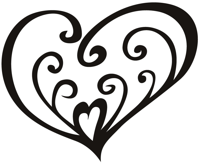 Line Drawing Heart Cake Ideas and Designs