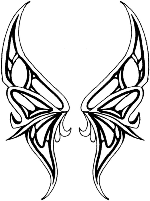 Free Butterfly Wing Outline, Download Free Clip Art, Free