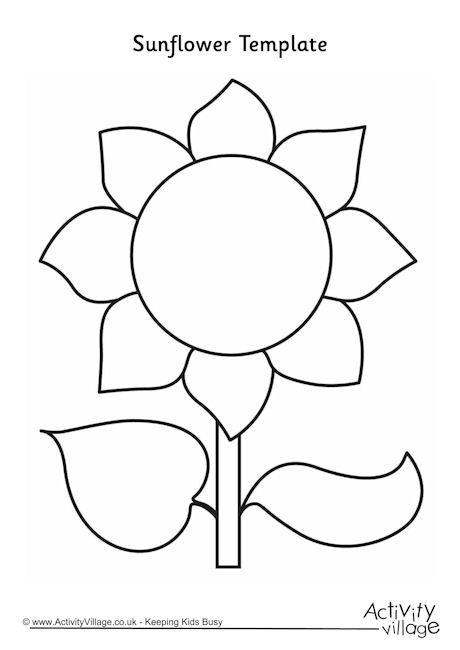 Free Sunflower Template, Download Free Clip Art, Free Clip