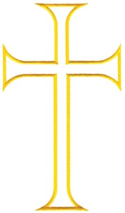 free outline of cross