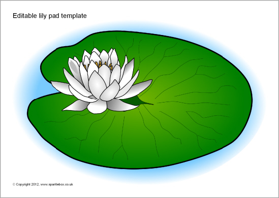 free lily pad template