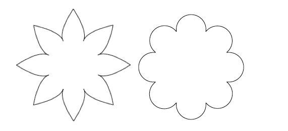 Free Eight Petal Flower Template, Download Free Clip Art