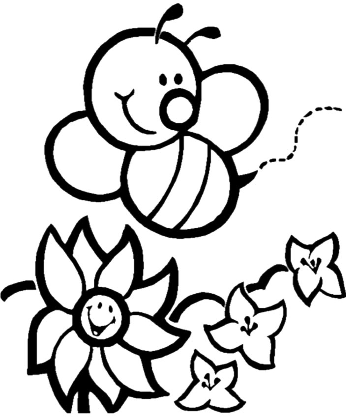 Free Cartoon Bee Coloring Page Download Free Clip Art Free Clip Art On Clipart Library