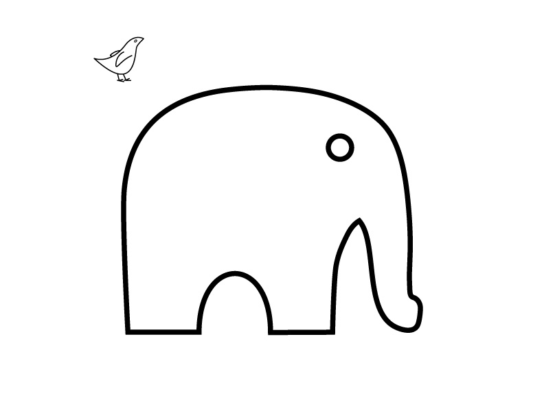 Free Simple Elephant Outline, Download Free Clip Art, Free