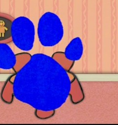 blues clues paw print 1661160 license personal use  [ 1024 x 768 Pixel ]
