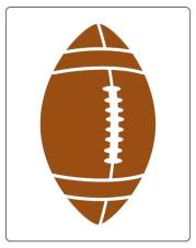 free football stencil