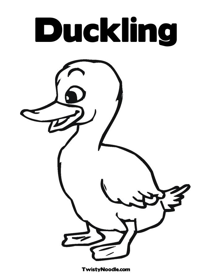 Free Outline Of A Duckling, Download Free Clip Art, Free