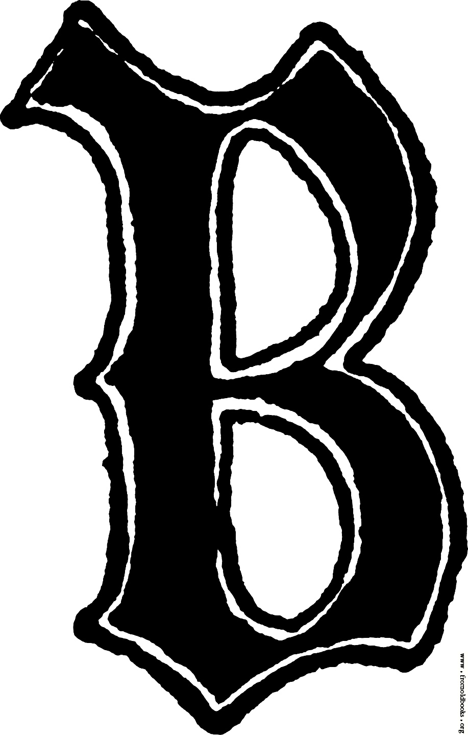 Letter B In Different Fonts : letter, different, fonts, Letter, Style, Library