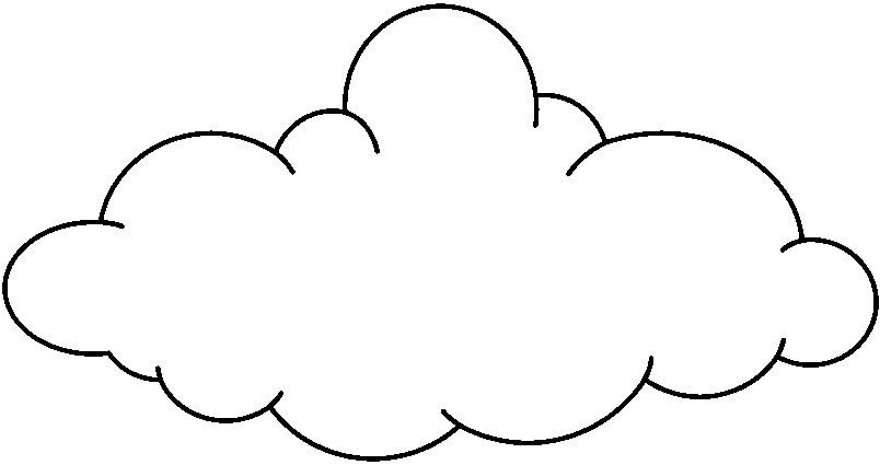 Free Cloud Outline, Download Free Clip Art, Free Clip Art