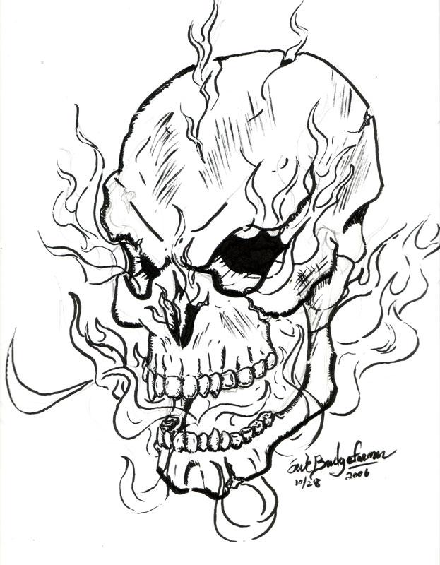 Free Skull Line Art, Download Free Clip Art, Free Clip Art