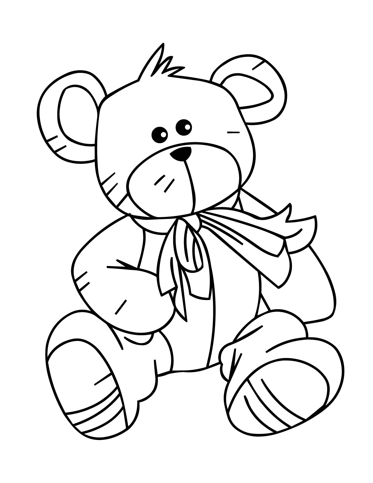 Gambar Mewarnai Boneka : gambar, mewarnai, boneka, Sketsa, Teddy, Bear,, Download, Clipart, Library