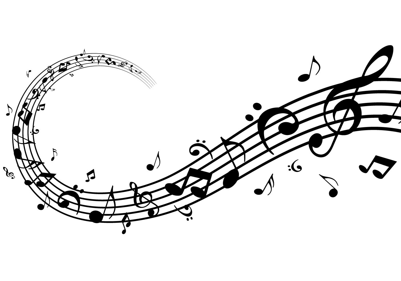 Modern Music Notes Vector Pack