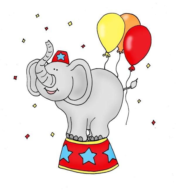 Free Cartoon Circus Elephant Clip Art