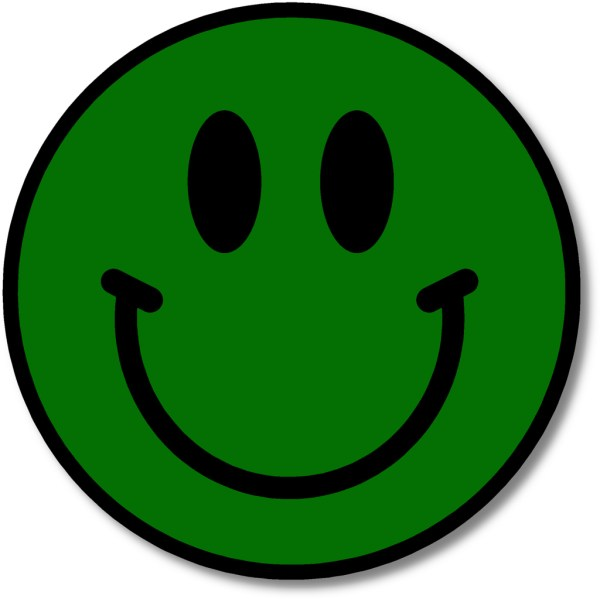 Green Happy Smiley Face Clip Art