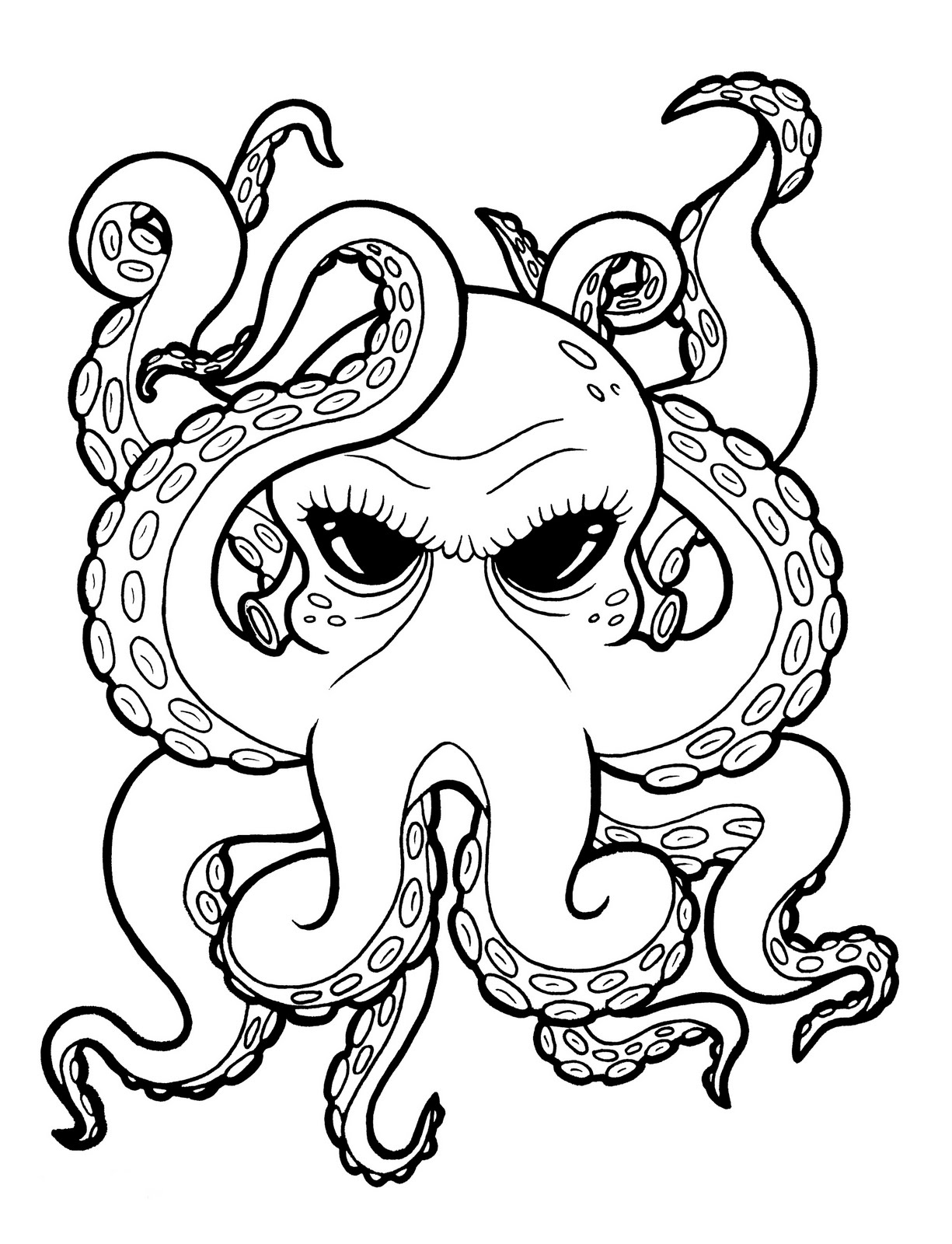 Free Octopus Outline Download Free Clip Art Free Clip