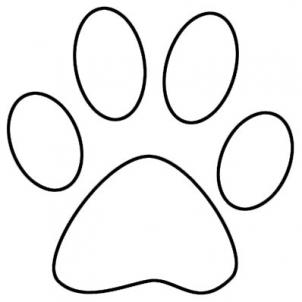 Draw a Paw Print, Step by Step, Pets, Animals, FREE Online