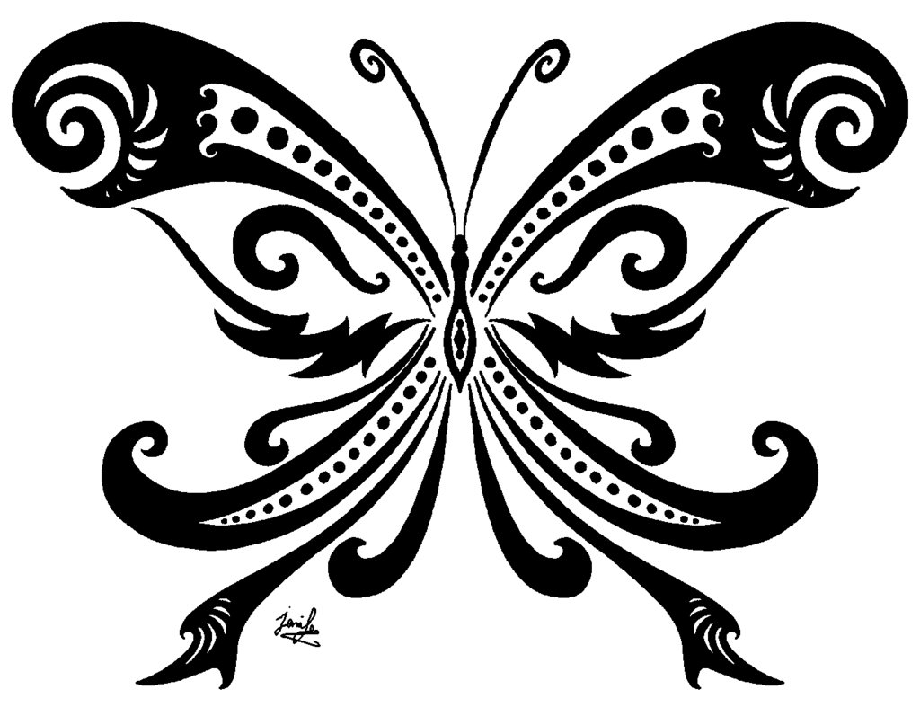 Butterfly Tribal By Vata38 On Clipart Library