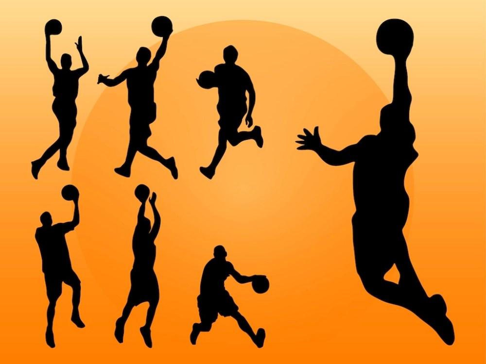 medium resolution of basketball vector clipart library