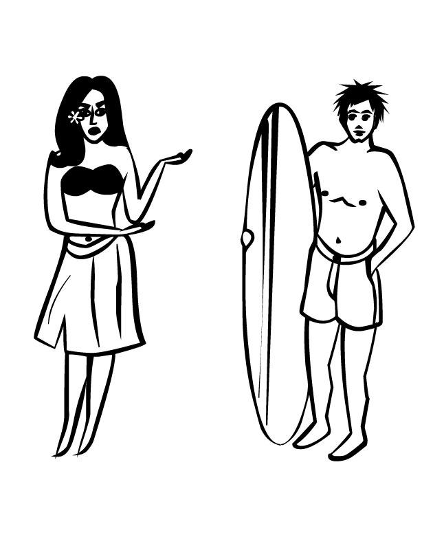 Free Cartoon Surfer Girl, Download Free Clip Art, Free