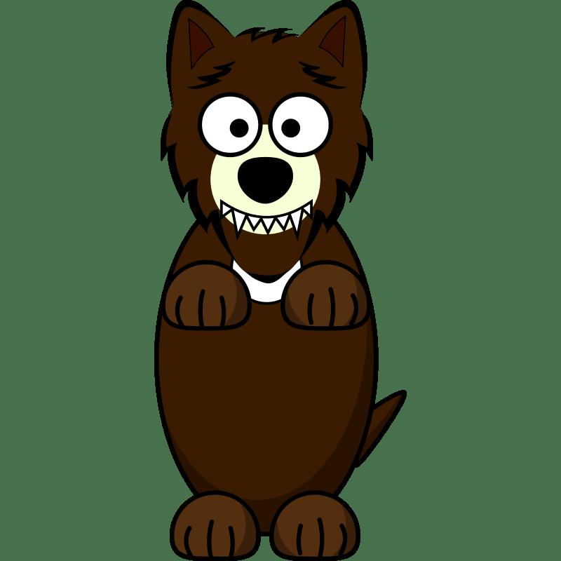 Clipart Cartoon Wolf