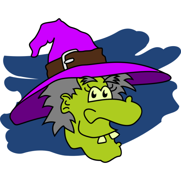 Free Cartoon Witch Face Clip Art