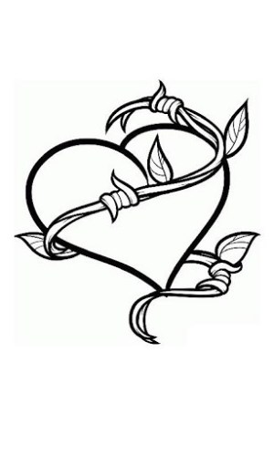 cool designs drawing tattoo draw tattoos heart easy drawings step simple wire patterns tatoos cliparts barb awesome outline fun unique