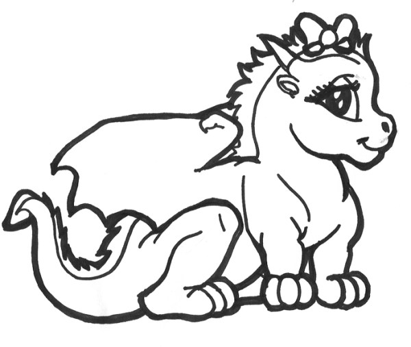 baby dragon coloring pages # 7