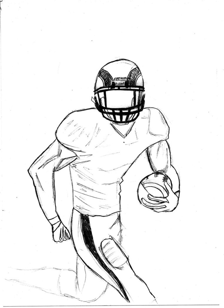 Football Drawing Easy : football, drawing, Drawings, Football, Players, Library