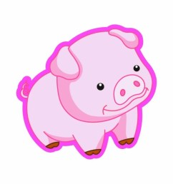 cartoon pig clipart [ 1280 x 800 Pixel ]
