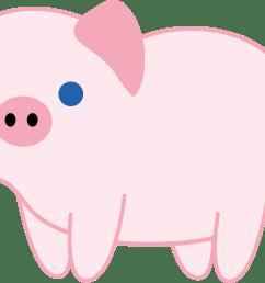 cute pink piglet free clip art [ 5154 x 3309 Pixel ]