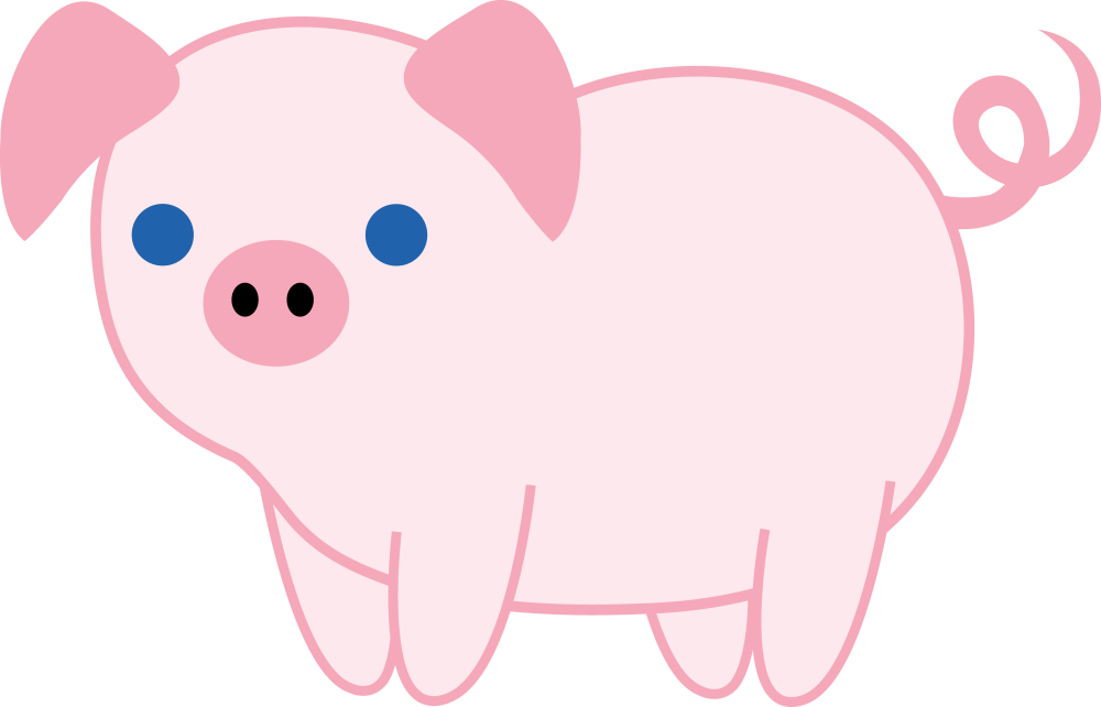 medium resolution of cute pink piglet free clip art