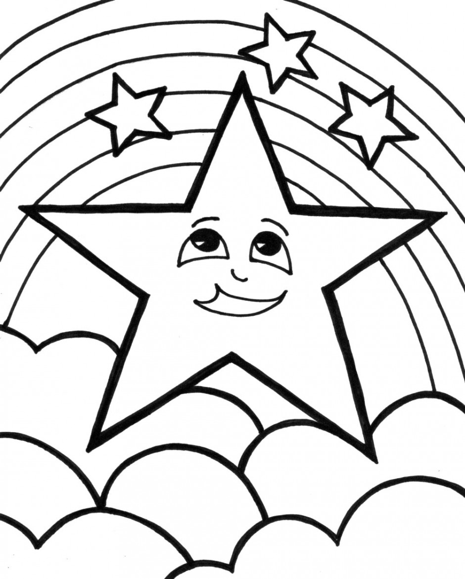 Shooting Star Colouring Pages Clip Art Library