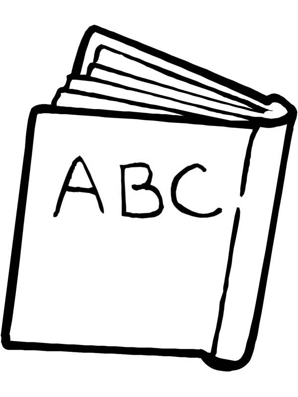 An ABC Book for First Day of School Coloring Page: An ABC
