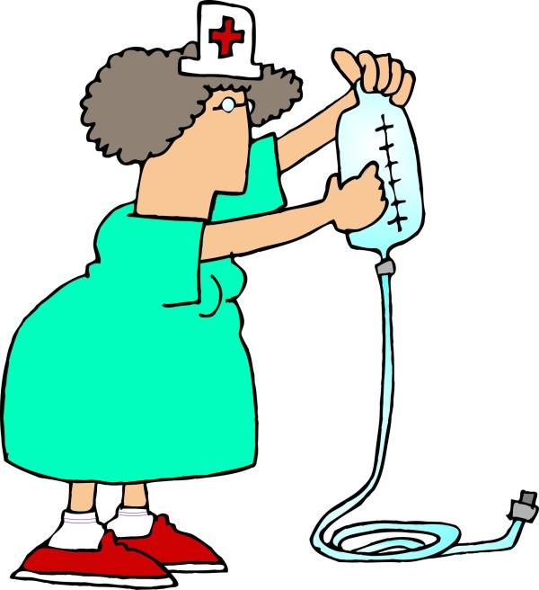 Cartoon IV Nurse Clip Art