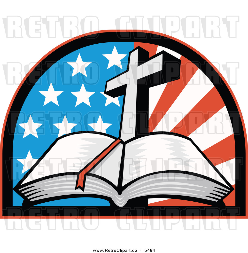 hight resolution of vector clipart of an old fashioned open holy bible with a cross