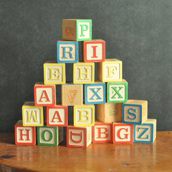 Vintage Alphabet Blocks Set Of 22 Antique Learning