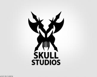 free skull logo design