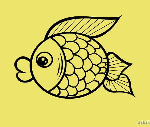 How To Draw A Cartoon Fish  Steps With Pictures Wikihow